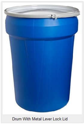 Blue plastic barrels for sale