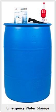 Emergency water barrel kit