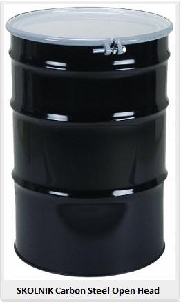 carbon steel open head drum